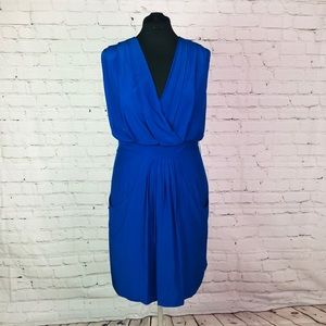 NWT Royal Blue Kenneth Cole Silk Dress Sz 12